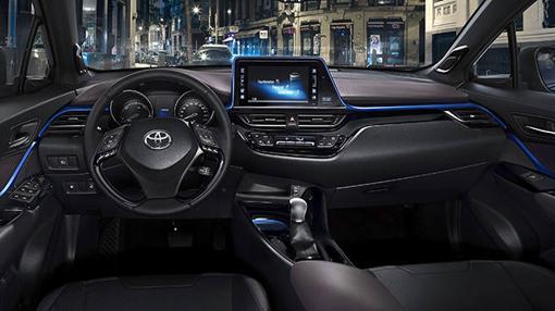 Mderno y de calidad, así es el interior del nuevo Toyota C-HR