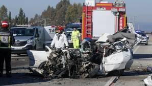Imagen de un accidente de tráfico reciente en Andalucía