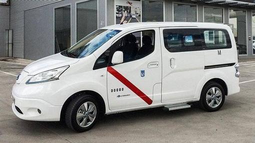 La furgoneta eléctrica Nissan e-NV200 es uno de los nuevos taxis de madrid