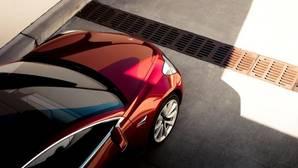 Vista cenital de un Tesla Model 3