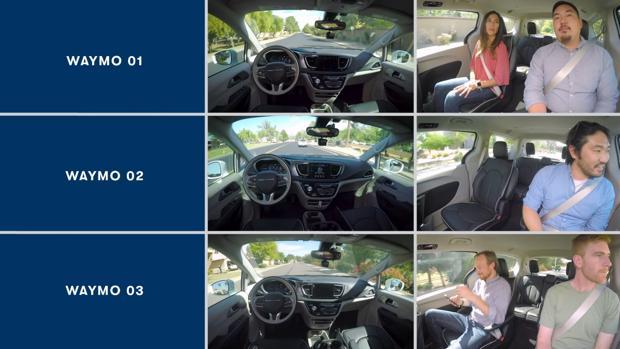 Captura del vídeo subido a YouTube que muestra las evoluciones del vehículo autónomo de Google