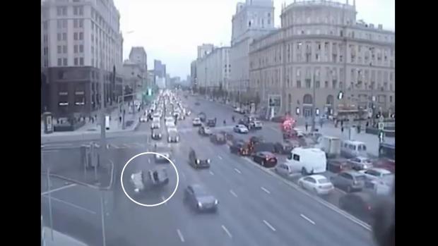 Captura del vídeo del accidente subido a Twitter