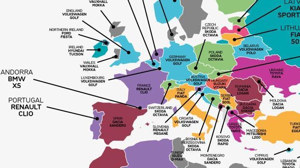 A nivel europeo, el grupo Volkswagen es líder en varios países