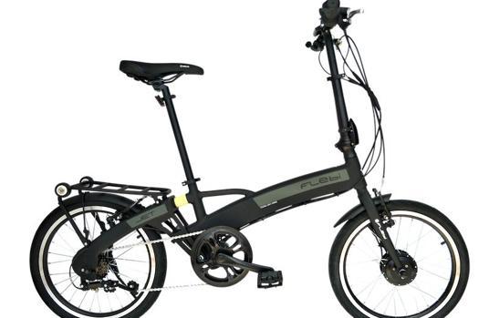 La bicicleta eléctrica que se sortea destaca por su plegado
