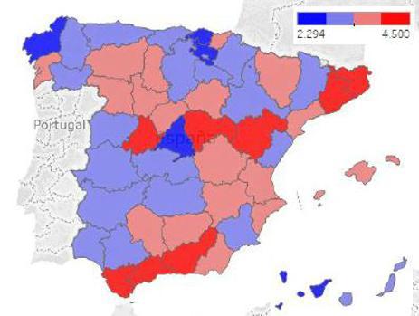 Tasa de motos en España