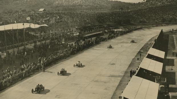 El circuito de Terramar, durante su inauguración, en 1923