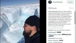 A DiCaprio no solo se le seca la boca hablando de cambio climático