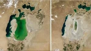 La increíble destrucción del mar de Aral: de oasis a desierto en menos de 16 años