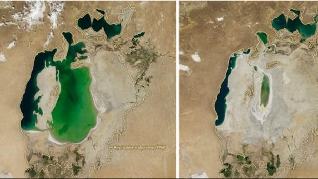 Facebook:  La increíble destrucción del mar de Aral: de oasis a desierto en menos de 16 años