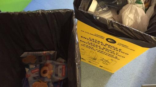 Cubos amarillos para envases de plástico, latas y briks