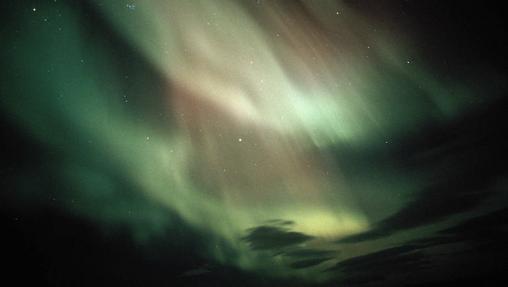 Aurora boreal en Vatnajokull (Islandia)