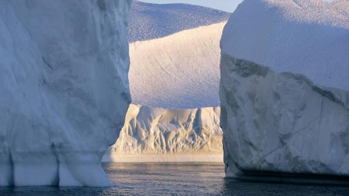 Icebergs cercanos al glaciar de Jakobshavn (Groelandia)