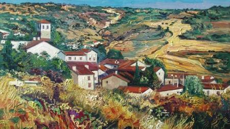 Olmeda vista por el pintor Secundino Rivera