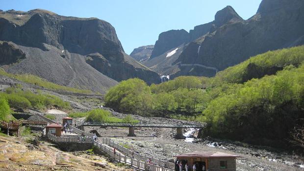 Una vista del macizo del Paektu, en la provincia de Jilin