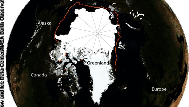 El hielo marino del ártico se conoce a menudo como el acondicionador de aire del planeta porque su superficie blanca devuelve la energía solar al espacio y enfría así el Globo