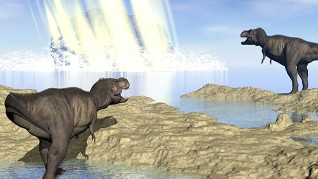 Recreación del impacto del gran asteroide que acabó con los dinosaurios