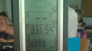 TErmómetro en un colegio hoy