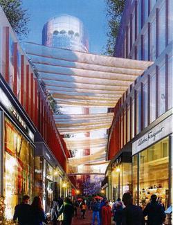 Recreación del centro comercial