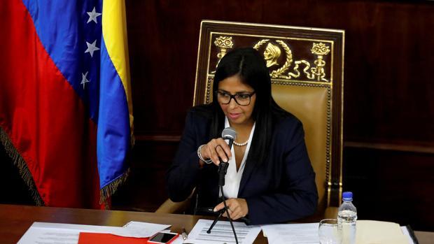 La presidenta de la Asamblea Nacional Constituyente, Delcy Rodríguez, en una imagen de archivo