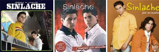 Portada de los tres primeros discos de «Sinlache»