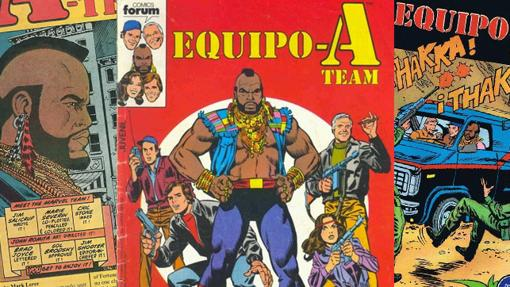 M.A. (B.A. en el original) es el protagonista de los cómics del Equipo A