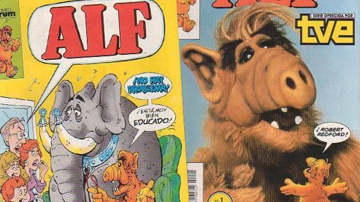Genial la portada del primer nº de Alf