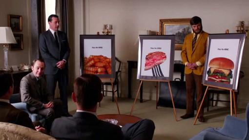 Don Draper presentaba la idea a Heinz, pero pasaron de ella