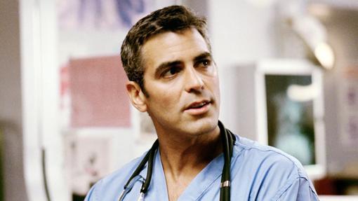 George Clooney como un joven Dr. Doug Ross