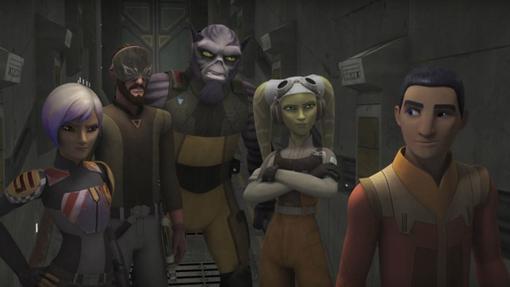 La tripulación de El Espíritu, la nave de Star Wars Rebels