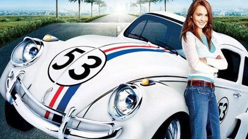 Lindsay Lohan y Herbie en la película de 2005