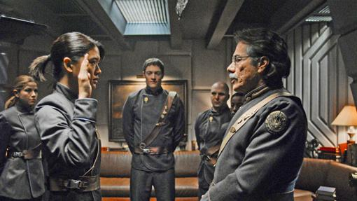 Fotograma de la serie de ficción 'Battlestar Galactica'.