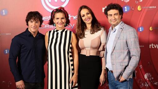 Los jueces Jordi Cruz, Samantha Vallejo-Nágera, Pepe Rodríguez y la presentadora Eva González