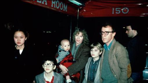 La familia Allen-Farrow antes de la ruptura.