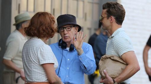 Woody Allen, durante el rodaje de 'Wonder Wheel'.