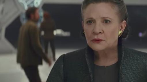 La malograda Carrie Fisher en su última película como la Princesa Leia.