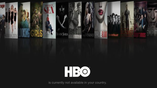 Mensaje de HBO en el extranjero.