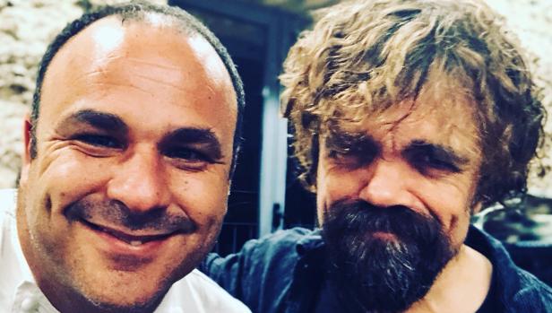 Ángel León y el actor Peter Dinklage (Tyrion Lannister) en Aponiente.