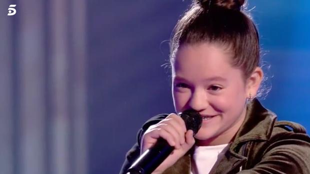 Nayra, durante una actuación en 'La Voz Kids'.