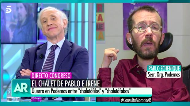 Eduardo India y Pablo Echenique en 'El programa de Ana Rosa'.
