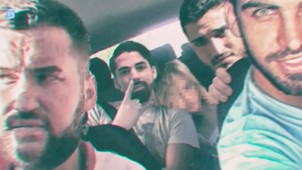 Fotograma del vídeo filtrado a la prensa de 'La Manada' en Pozoblanco.