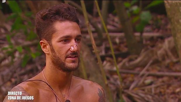 Hugo, durante un programa de 'Supervivientes'.