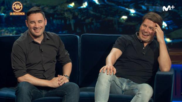 Andy y Lucas estuvieron en 'La Resistencia', de Movistarr +