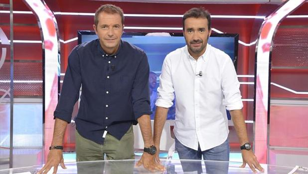 Manu Carreño y Juanma Castaño. Eran otros tiempos.