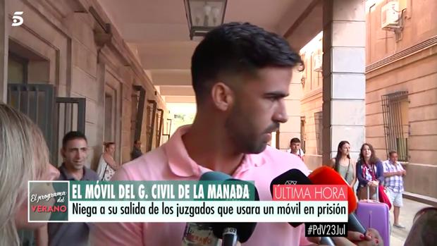 Antonio Manuel Guerrero, a la salida de los juzgados.