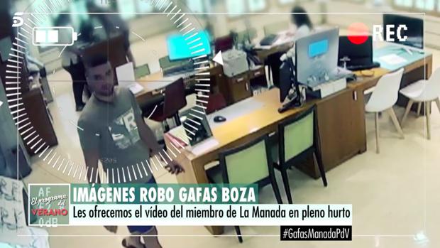 Ángel Boza, antes de robar en la óptica de Sevilla.