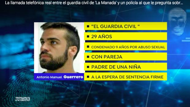 Los datos policiales de Antonio Manuel Guerrero.