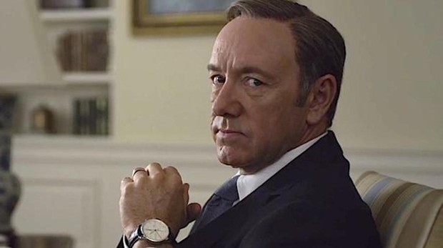 Kevin Spacey como Frank Underwood en 'House of Cards'