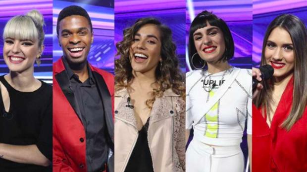 Los cinco finalistas de 'Operación Triunfo 2018'