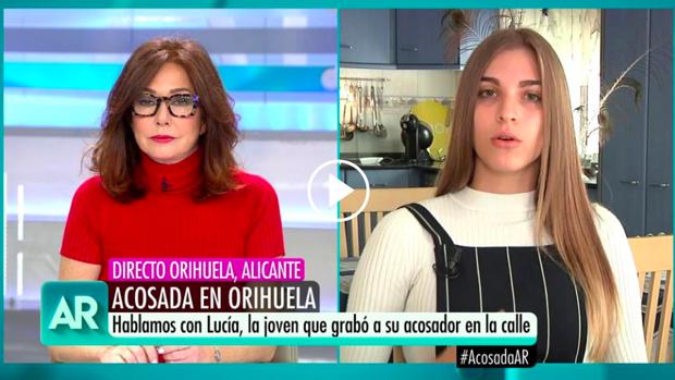 Lucía habló en directo con Ana Rosa Quintana.