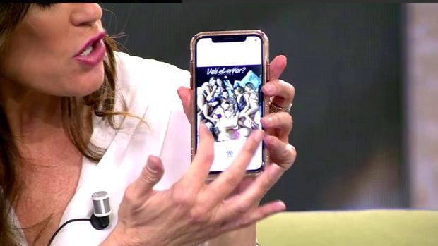 La imagen de 'Whatsapp' que hace referencia a Belén Esteban